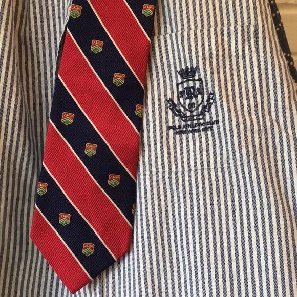 be050e0db080 Ralph Lauren Accessories | Lrl Red Blue Tie W Crest 100 Silk | Poshmark